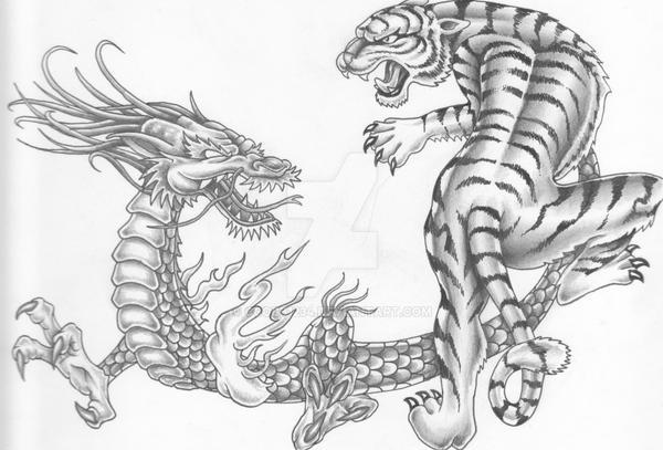 Dragon Vs Tiger By Ccobb1234 On Deviantart