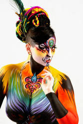 Rasta Tiger Queen by PaintOnYourFace