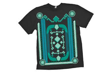Virlyn T-shirt design 1- black shirt example by DjMerlyn