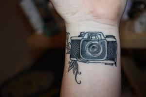 Camera Tattoo by hayleybell104