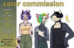 [OPEN 4/5] color commissions by dnovaa