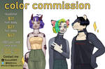 [OPEN 5/5] color commissions by dnovaa