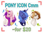 [OPEN EXTRA] pony icon commissions by dnovaa