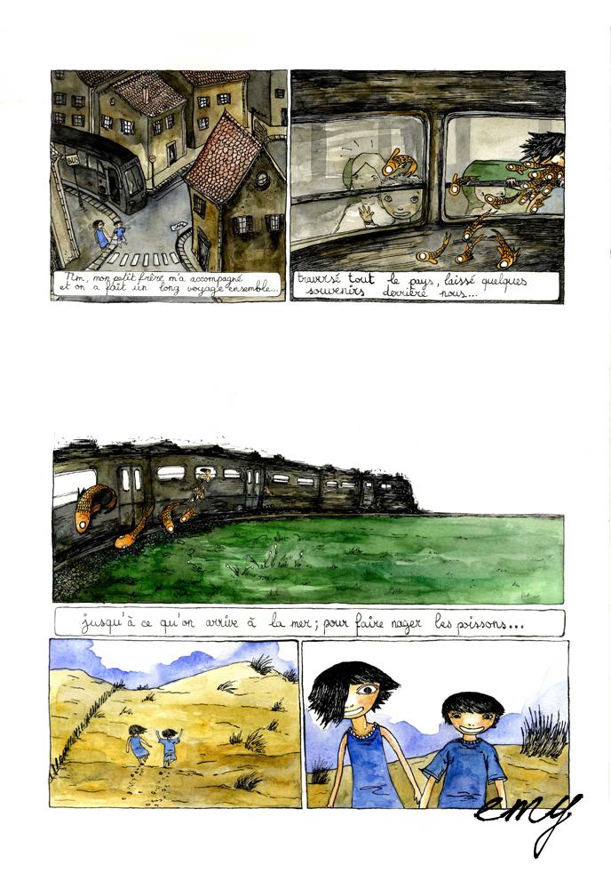 La Petite Fille aux Poissons page 2 by emychaoschildren