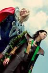 Thor and Loki Cosplay
