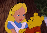 Alice and Pooh Bear by Lonewolf-Sparrowhawk