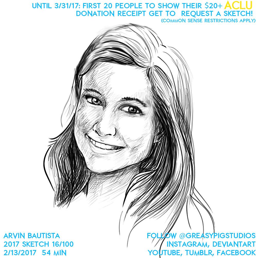 Arvin Bautista Sketches 2017 16/100: My Valentine by greasypigstudios