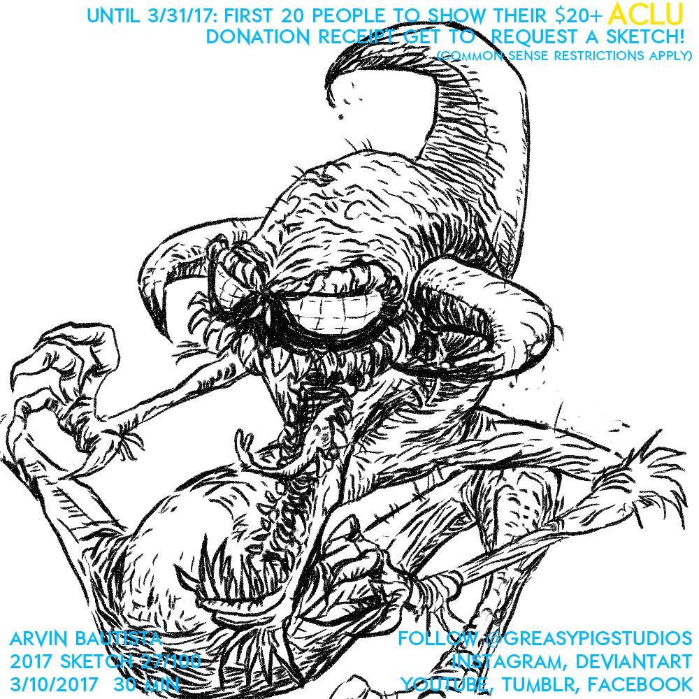 Arvin Bautista Sketches 2017 27/100: Violator by greasypigstudios