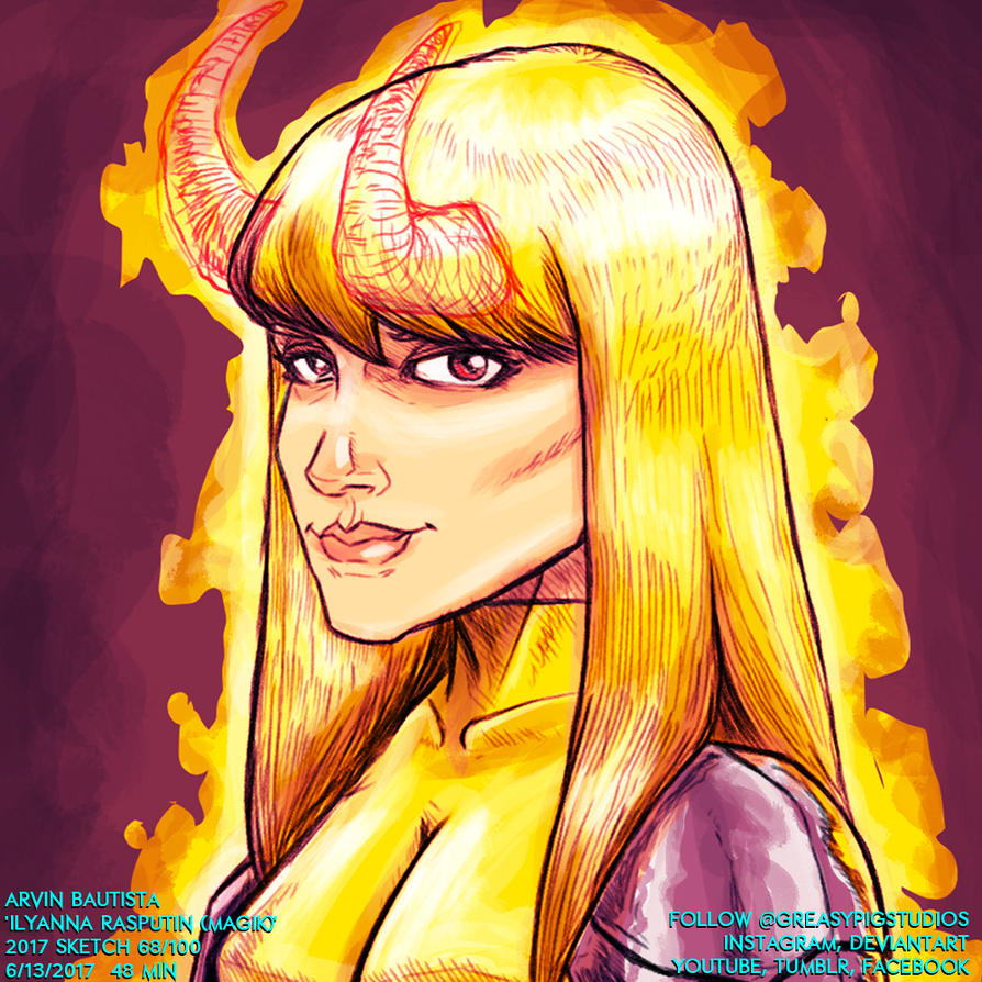 Arvin Bautista Sketches 2017 68/100: Magik by greasypigstudios