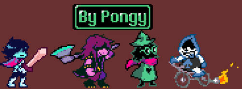[Deltarune] Main characters recreation by P0ngy