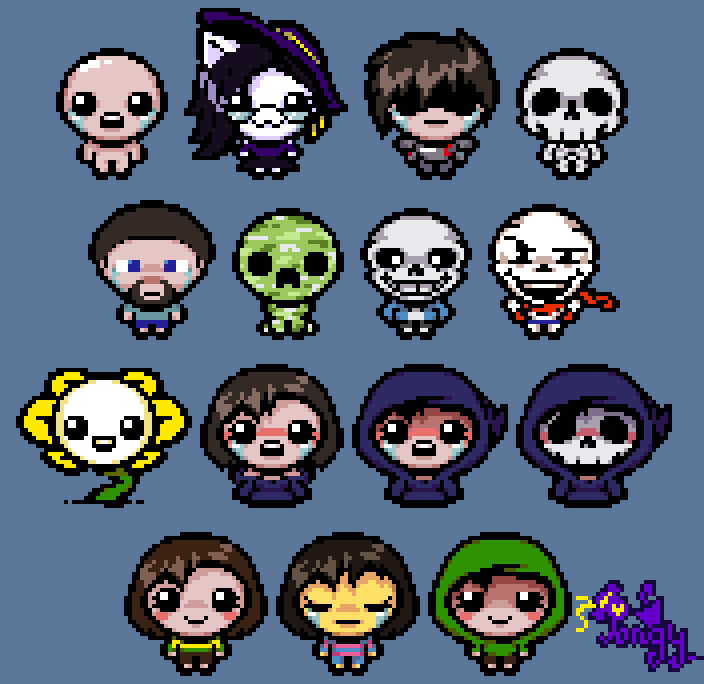 [Different Characters] The Binding Of Isaac Style By P0ngy