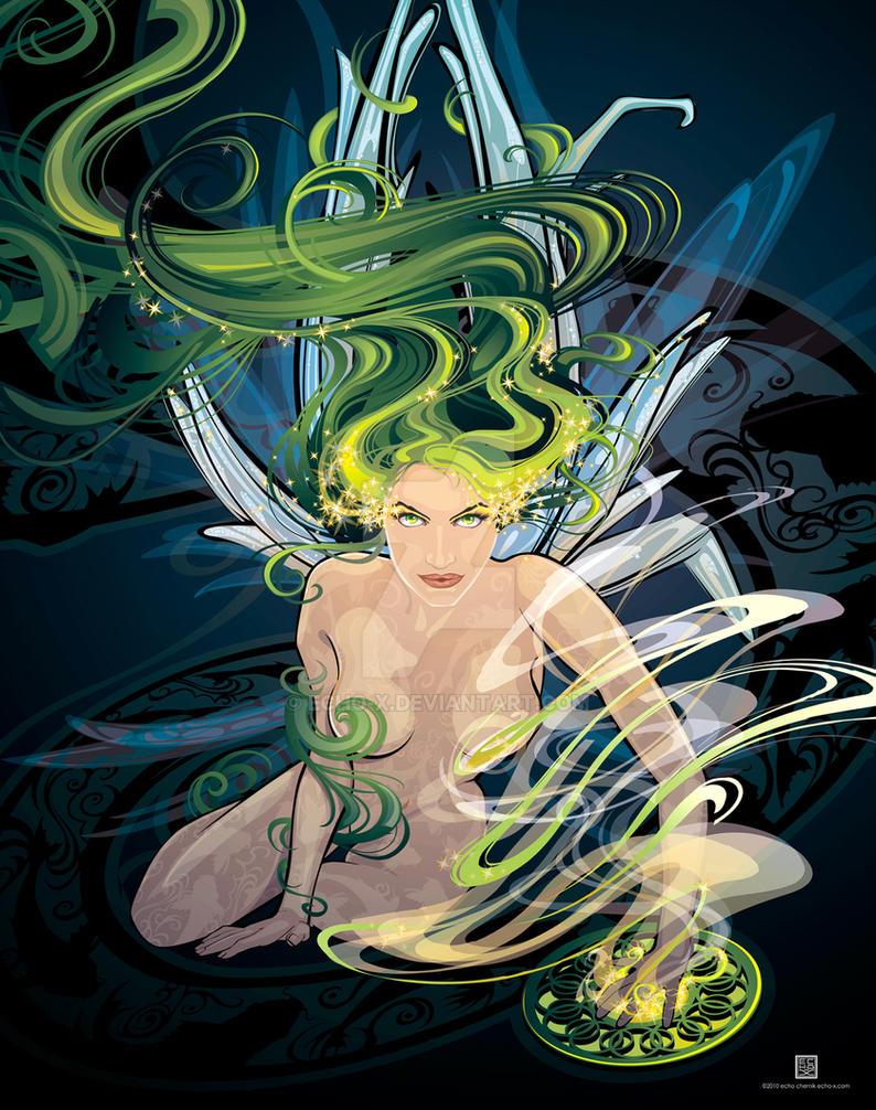 Absinthe Fairy by Echo Chernik by echo-x
