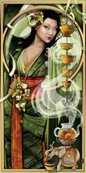 Goddess of Tea by echo-x