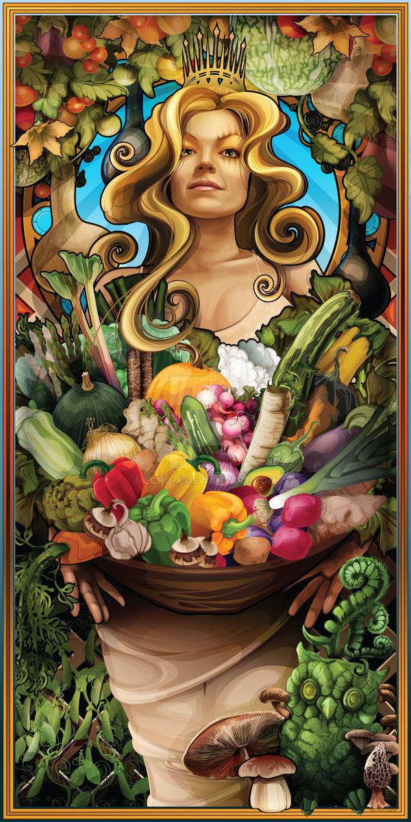 Goddess of Vegetable by echo-x