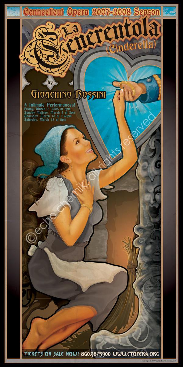 Connecticut Opera Poster - La Cenerentola by echo-x
