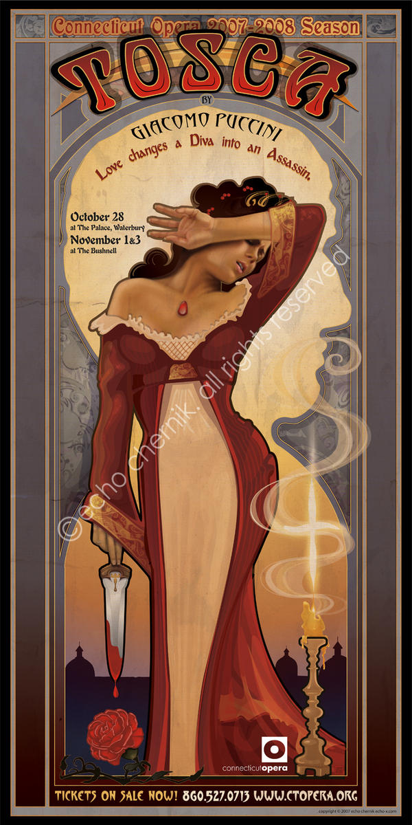 Connecticut Opera Poster - Tosca
