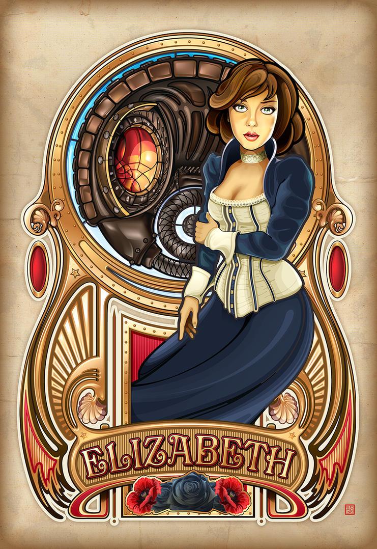 Art Nouveau Elizabeth by echo-x