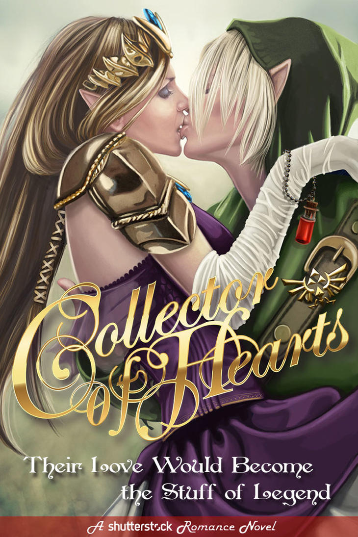 Classic Book Covers Reimagined ~ Link and zelda romance cover for shutterstock by echo on