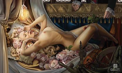 The Dreaming of Beauty (Sleeping Beauty) by echo-x