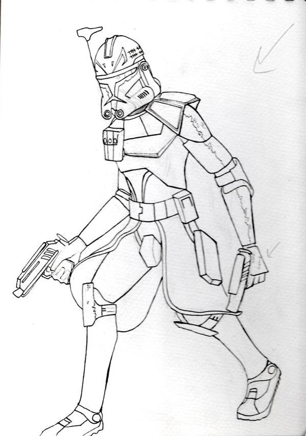 Captain Rex Sketch By Tipsutora On Deviantart