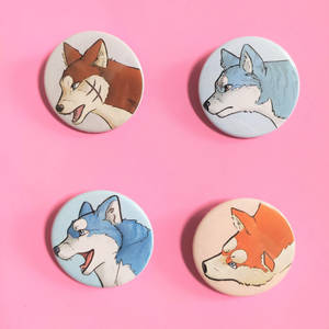 Ginga badge and magnet pack