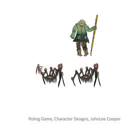 Poling Game Character Designs