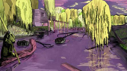Swamp Cabin by ergman