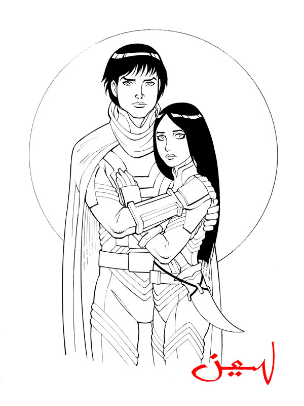 Paul and Chani of Dune by jonbalaos
