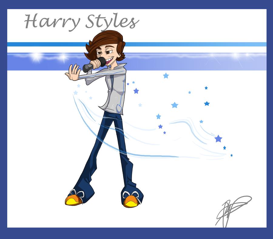 Harry Styles: Retro Cartoon Style by Crocofielius