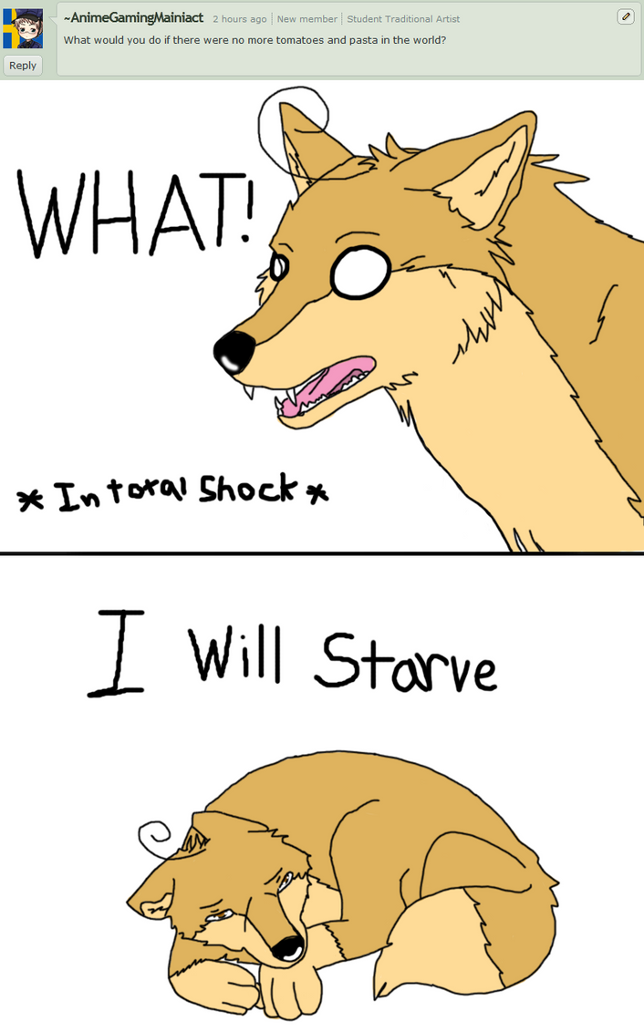 What!? No More Pasta? I will Starve!!