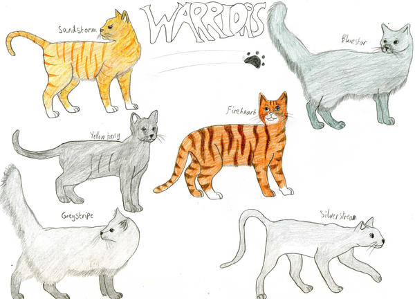 Warrior Cats by Rainbowgal on DeviantArt Warrior Cat Drawings