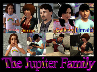 Sims 3: The Jupiter Family by Rainbowgal