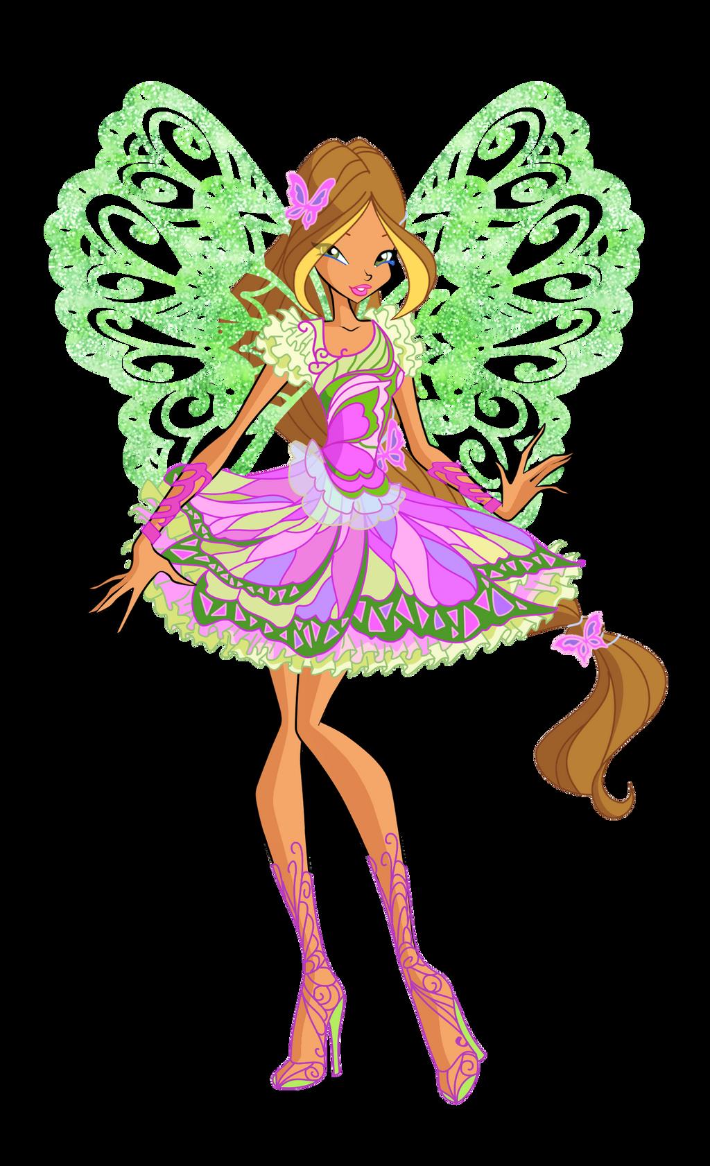 official flora butterflix 2d by winx rainbow on