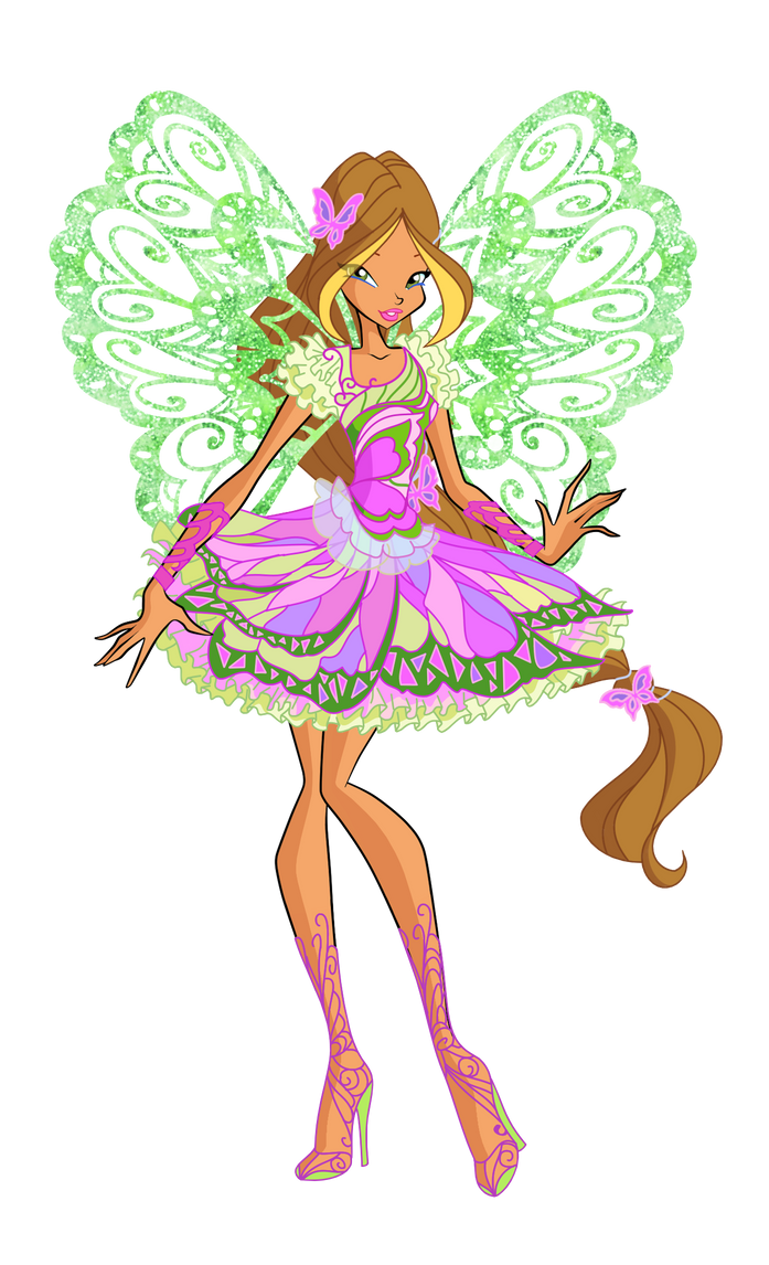 official flora butterflix 2d by winx rainbow on