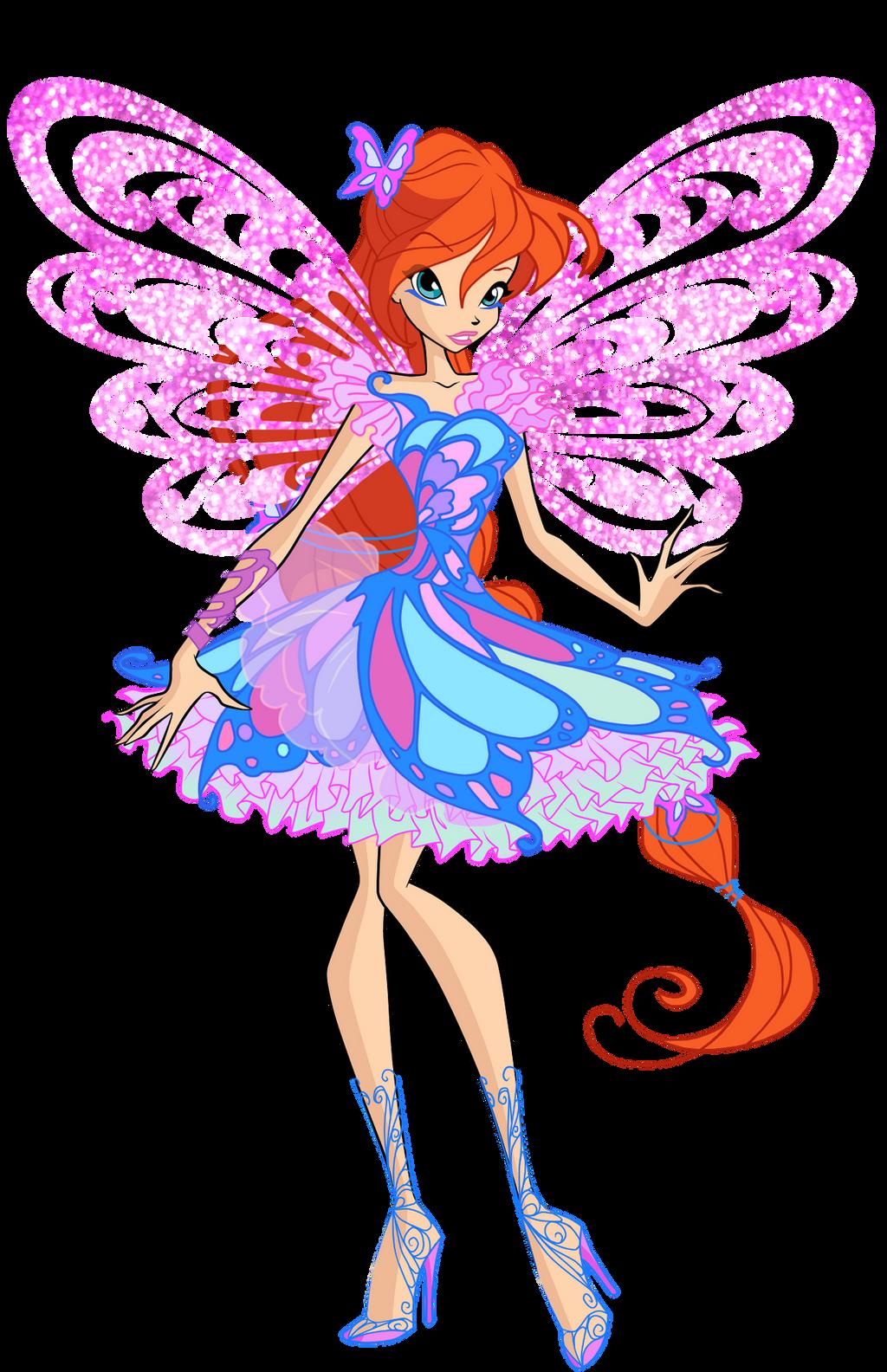 official bloom butterflix by winx rainbow on deviantart