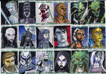 Clone Wars Sketch Cards 1 of 4
