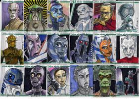 Clone Wars Sketch Cards 2 of 4 by Fierymonk