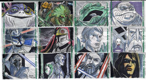Clone Wars Sketch Cards 3 of 4 by Fierymonk