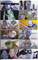 2009 Clone Wars Sketch Cards 1 by Fierymonk