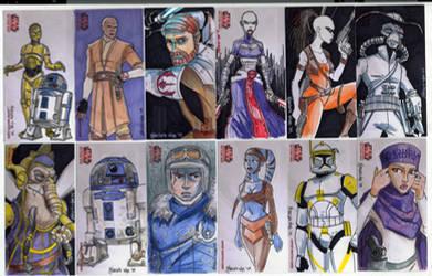 2009 Clone Wars Sketch Cards 2 by Fierymonk