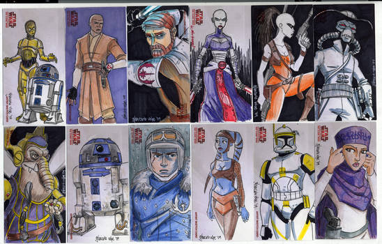 2009 Clone Wars Sketch Cards 2