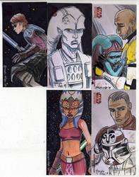 2009 Clone Wars Sketch Cards 3 by Fierymonk