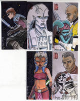 2009 Clone Wars Sketch Cards 3 by Fierymonk
