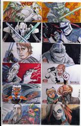 2009 Clone Wars Sketch Cards 4 by Fierymonk