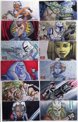 2009 Clone Wars Sketch Cards 5 by Fierymonk