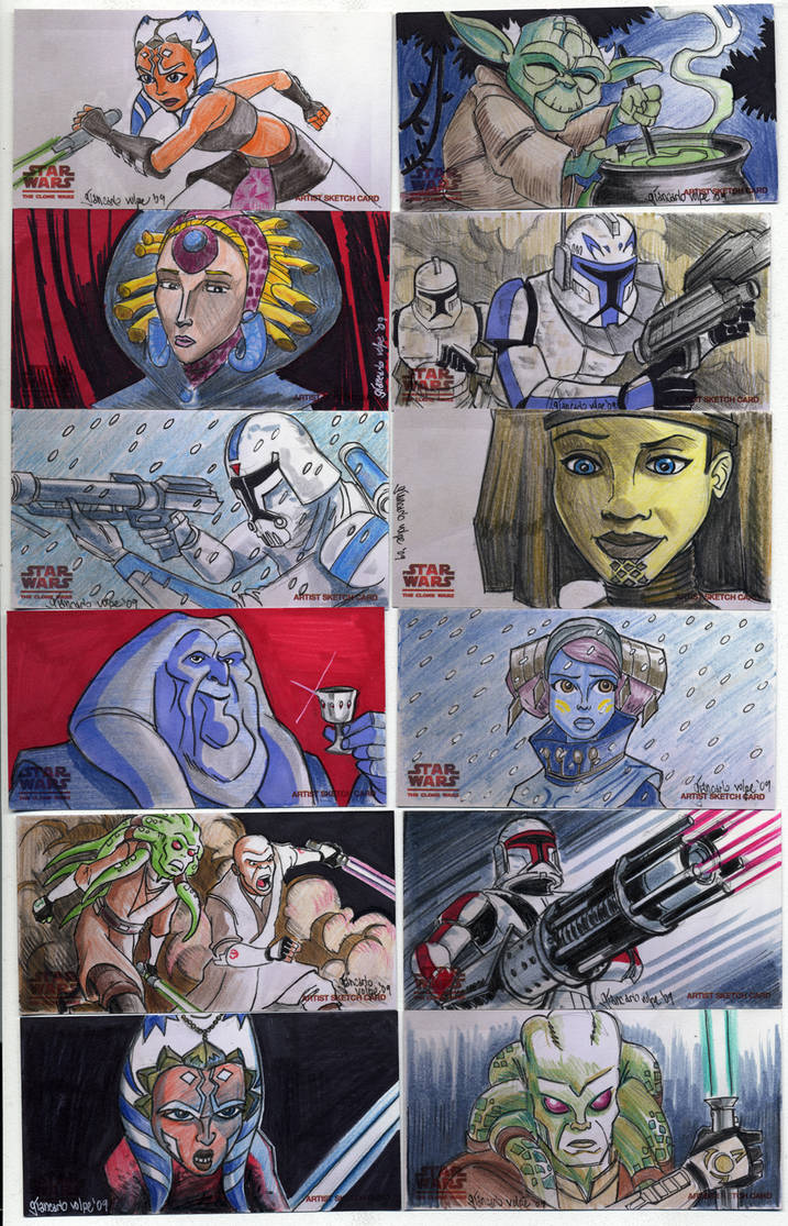 2009 Clone Wars Sketch Cards 5 by Fierymonk