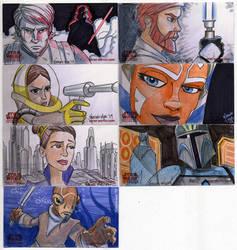 2009 Clone Wars Sketch Cards 6 by Fierymonk