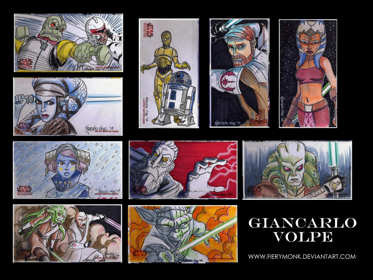 10 Clone Wars Sketch Cards by Fierymonk
