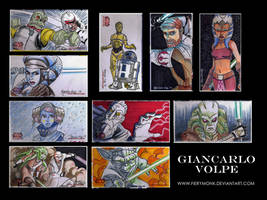 10 Clone Wars Sketch Cards by Fierymonk