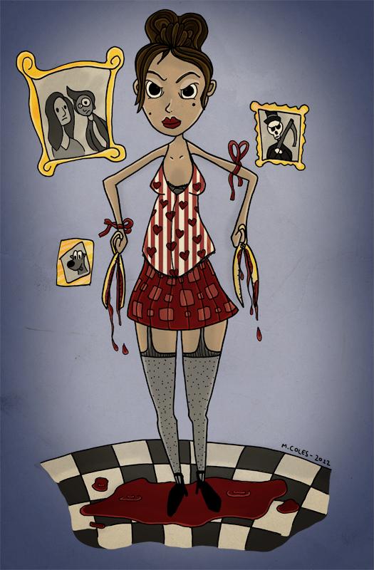 Creepy Scissor Girl by 2d-Matty